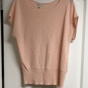New York & Co size L pale pink sweater blouse